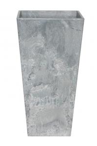 Кашпо artstone ella vase grey l14 w14 h26 см