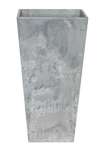 Кашпо artstone ella vase grey l19 w19 h35 см