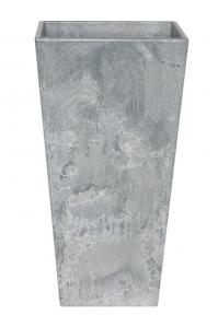 Кашпо artstone ella vase grey l26 w26 h49 см