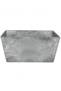 Кашпо artstone ella bowl grey l25 w25 h12 см