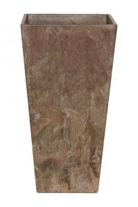 Кашпо artstone ella vase brown l14 w14 h26 см