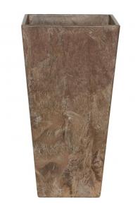 Кашпо artstone ella vase brown l26 w26 h49 см