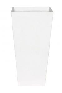 Кашпо artstone ella vase white l14 w14 h26 см
