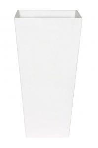 Кашпо artstone ella vase white l19 w19 h35 см