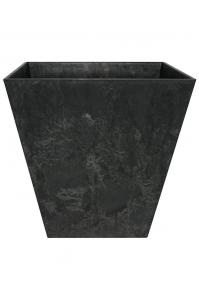 Кашпо artstone ella pot black l15 w15 h15 см