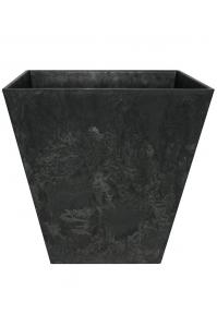 Кашпо artstone ella pot black l30 w30 h29 см