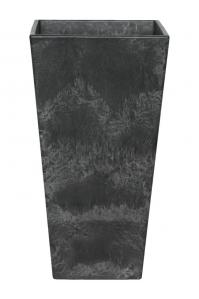 Кашпо artstone ella vase black l14 w14 h26 см