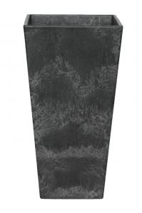 Кашпо artstone ella vase black l26 w26 h49 см