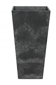 Кашпо artstone ella vase black l35 w35 h70 см
