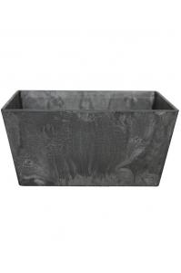Кашпо artstone ella bowl black l25 w25 h12 см