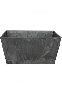 Кашпо artstone ella bowl black l30 w30 h14 см
