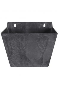 Кашпо настенное artstone ella wall hanger black l22 w15 h18 см