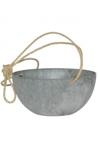 Кашпо подвесное artstone fiona hanger grey d31 h15 см