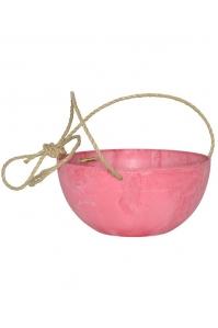 Кашпо подвесное artstone fiona hanger pink d25 h12 см