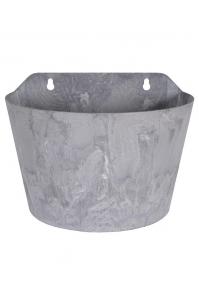 Кашпо настенное artstone claire wall hanger grey l24 w16 h18 см