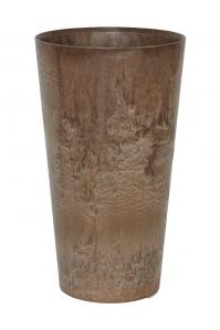 Кашпо artstone claire vase brown d14 h26 см