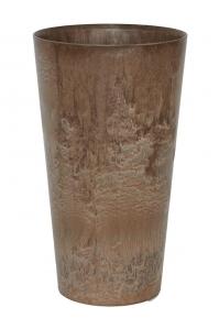 Кашпо artstone claire vase brown d19 h35 см