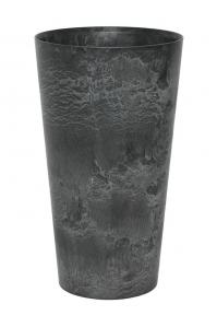 Кашпо artstone claire vase black d14 h26 см