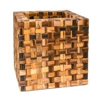 Кашпо bananaplanter cube braun l44 w44 h44 см