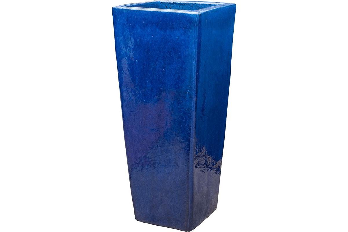 Кашпо blue kubis l36 w36 h90 см
