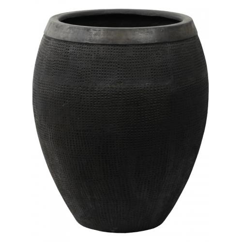 Кашпо breeze (grc) emperor black d95 h108 см