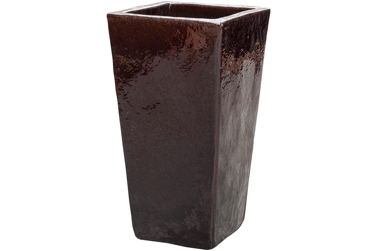 Кашпо brown kubis l33 w33 h60 см