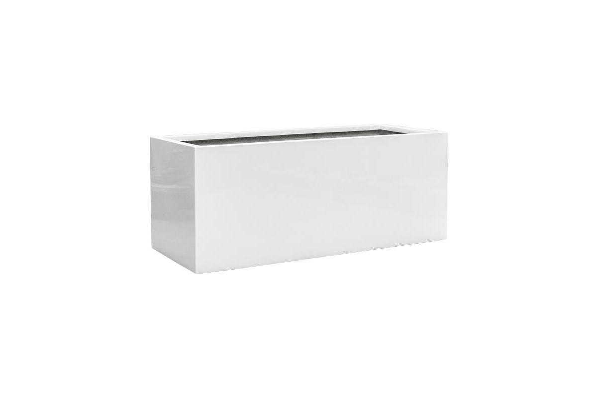 Кашпо b-straight rectangle glossy white l102 w41 h41 см
