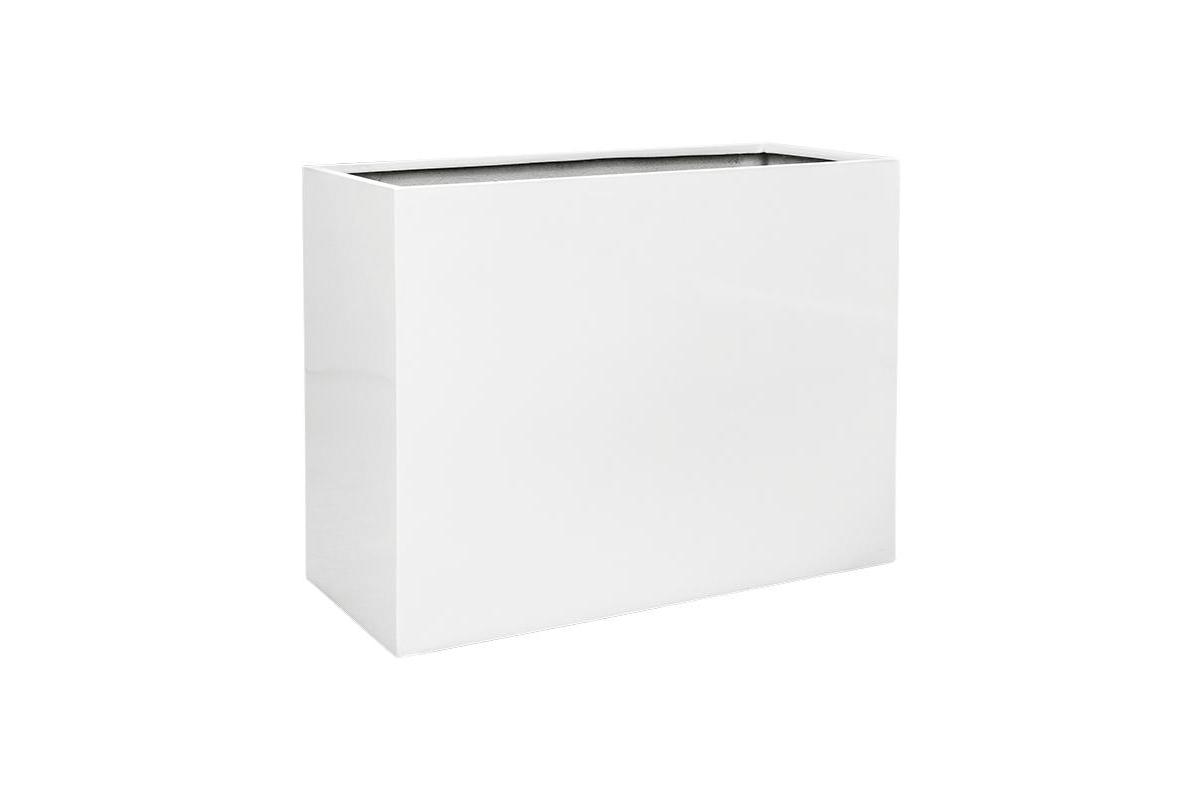 Кашпо b-straight rectangle glossy white l90 w40 h70 см