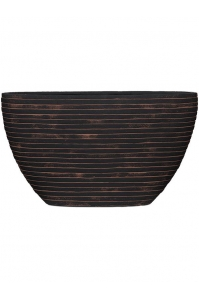 Кашпо capi nature row planter oval i brown l59 w14 h35 см