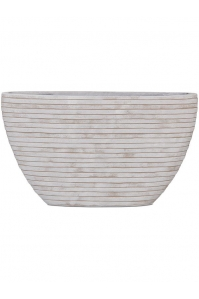 Кашпо capi nature row planter oval i ivory l59 w14 h35 см