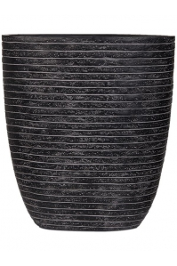 Кашпо capi nature row oval planter iii black l33 w15 h36 см
