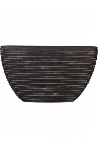 Кашпо capi nature row planter oval i black l59 w14 h35 см