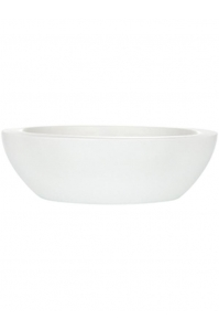 Кашпо capi bowl low iii white d44 h12 см