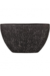 Кашпо capi nature stone planter oval i black l59 w15 h35 см