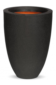 Кашпо capi urban smooth nl vase elegance low ii black d36 h47 см