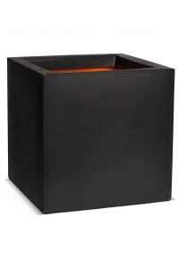 Кашпо capi urban smooth nl pot square iii black l40 w40 h40 см