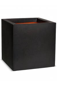 Кашпо capi urban smooth nl pot square iv black l50 w50 h50 см