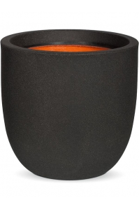 Кашпо capi urban smooth nl egg planter ii black d35 h34 см