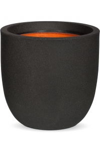 Кашпо capi urban smooth nl egg planter iii black d43 h41 см
