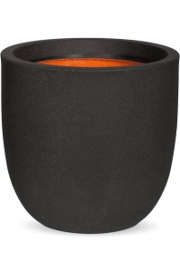 Кашпо capi urban smooth nl egg planter iv black d54 h52 см