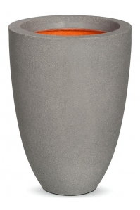 Кашпо capi urban smooth nl vase elegance low i light grey d26 h36 см