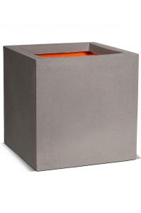 Кашпо capi urban smooth nl pot square ii light grey l30 w30 h30 см