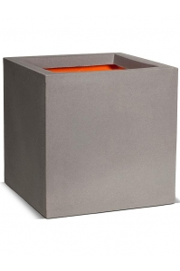 Кашпо capi urban smooth nl pot square iii light grey l40 w40 h40 см