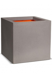 Кашпо capi urban smooth nl pot square iv light grey l50 w50 h50 см