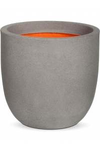 Кашпо capi urban smooth nl egg planter iv light grey d54 h52 см