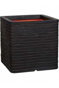 Кашпо capi nature row nl planter square dark brown l30 w30 h30 см