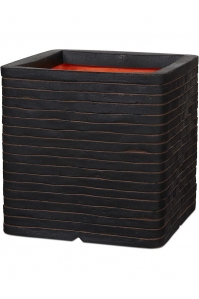 Кашпо capi nature row nl planter square dark brown l40 w40 h40 см
