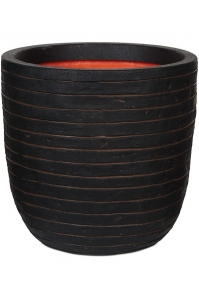 Кашпо capi nature row nl planter ball dark brown d35 h34 см