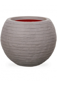 Кашпо capi nature row nl vase vase ball grey d62 h48 см