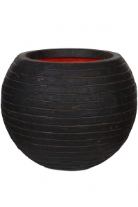 Кашпо capi nature row nl vase ball dark brown d40 h32 см